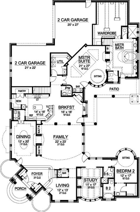 Master Retreat Floor Plans Plan 36205tx Two Story Master Retreat Bedroom Corner