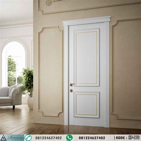 Hp Pintu model pintu kamar klasik minimalis 2 panel warna putih