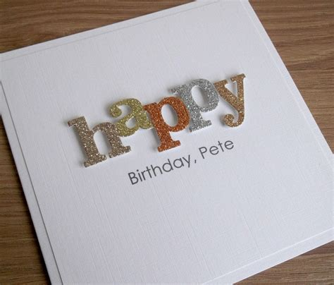 Handmade Birthday Cards For Husband - handmade birthday card personalized any age and or name