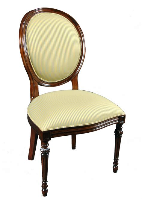 Oval Dining Chairs Set Of 8 Upholstered Oval Back Mahogany Wood Classic Dining Side Chairs Ebay