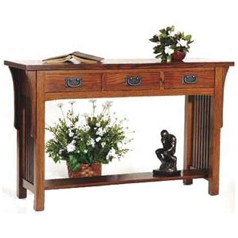 arts and crafts sofa table aa laun arts and crafts sofa table with 3 drawers and