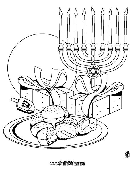 Printable Coloring Pages Hanukkah | chanuka symbols coloring pages hellokids com