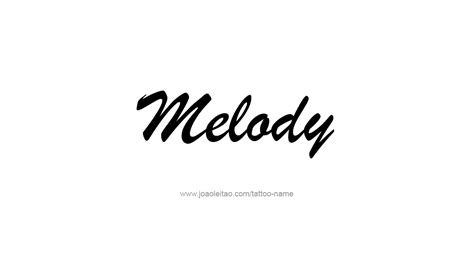 melody tattoo melody name designs
