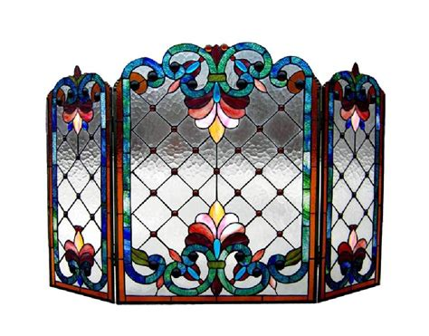 Beautiful Cut Stained Glass Fireplace Screens Your Choice Stained Glass Fireplace Doors