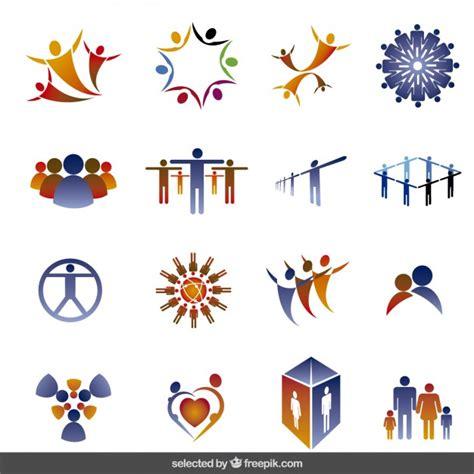 imagenes en vectores gratis descargar colecci 243 n logos hecho con siluetas de personas descargar