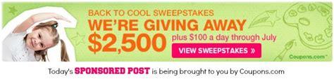 Sweepstakes Coupons - back to school savings sponsored dude mom