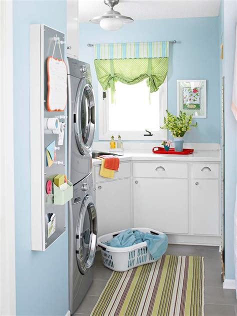blue and white laundry room cottage laundry room bhg