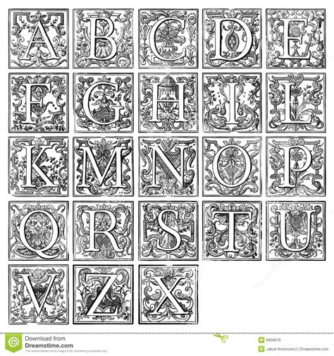 free printable illuminated letters alphabet 2017 2018