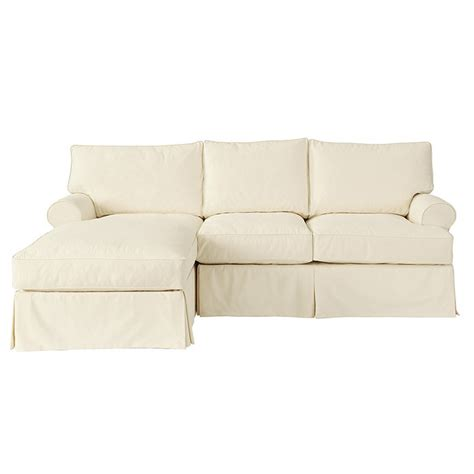 Slipcover For With Chaise by Davenport 2 Sectional With Left Arm Chaise Slipcover