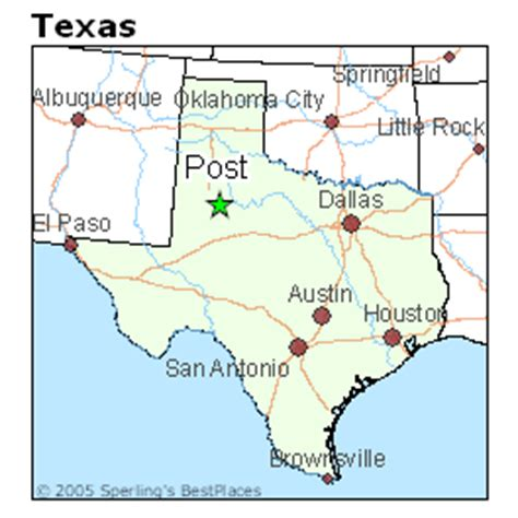 post texas map best places to live in post texas