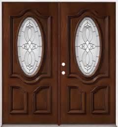 Discount 3 4 oval mahogany prehung double wood door unit 86
