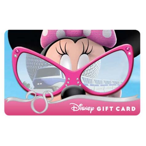 Epcot Gift Card - your wdw store disney collectible gift card sunglass series minnie mouse epcot