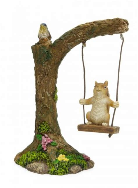 squirrel swing fairy garden miniature squirrel tree swing my fairy gardens