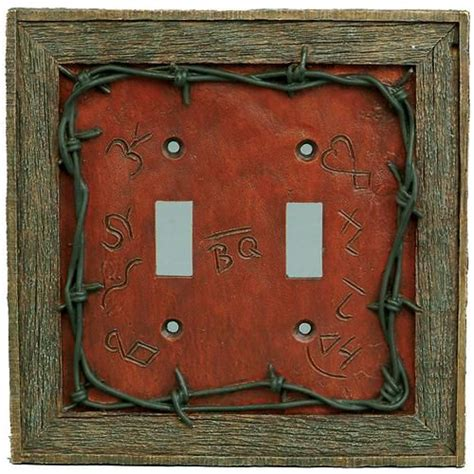 pin by barbed wire on rustic southwest native american western lifestyles barbed wire double switch plate cover