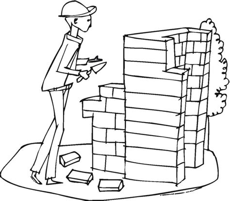 Construction Worker Coloring Page Construction Coloring Pages Printable Coloring Pages by Construction Worker Coloring Page