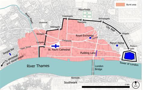 river thames map ks2 great fire of london for children 1666 homework help