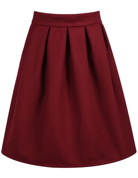 high waist pleated skirt shein sheinside