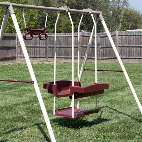 set swing swing set outdoor kids children backyard slide ladder