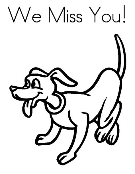 i will miss you bear coloring page coloring pages