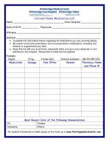 Free printable medication list template gkkdc11r