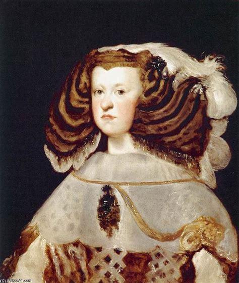 portrait de marianne avec portrait de marianne d autriche reine d espagne huile sur toile de diego velazquez 1599 1660
