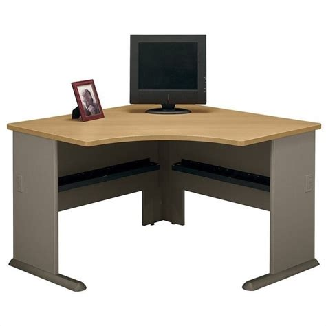 Bush Business Series A 48 Quot Corner Desk In Light Oak Wc64366 Bush Corner Desks