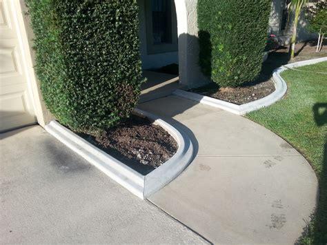 curb appeal concrete edging poured concrete borders curb appeal