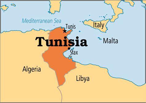 Tunisia On World Map by Tunesien Karte Gemeinden