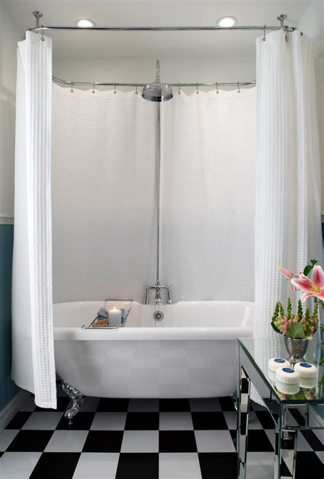 roll top bath shower curtain colin justin viewing interiors