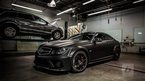 C Top Black c63 black series satin matte wrap 6