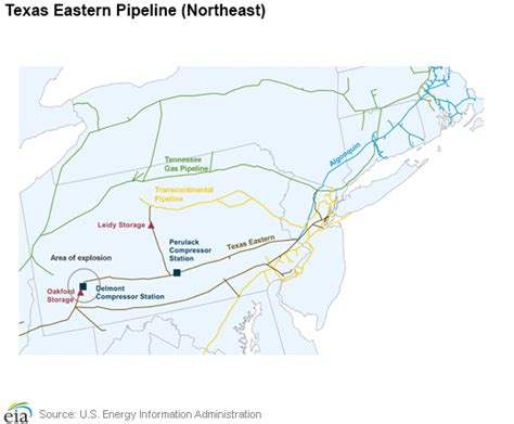 texas eastern transmission map eia explosion on texas eastern pipeline in pa cuts natgas flow marcellus drilling news