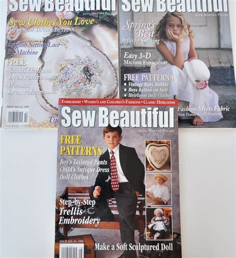 beautiful magazine sew beautiful magazine back issues 1999 just vintage home