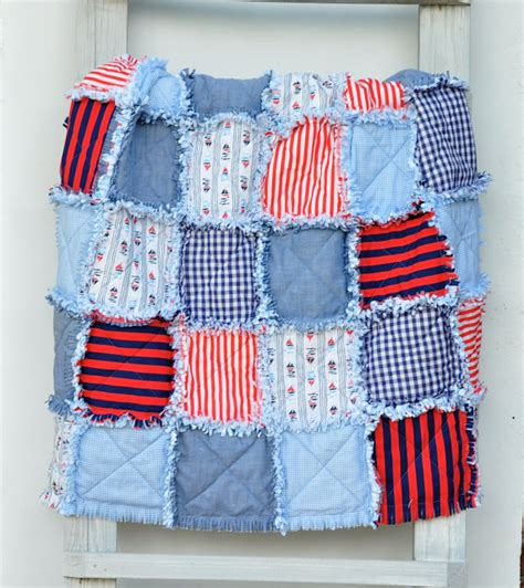 Nautical Themed Quilts by Baby Rag Quilt Nautical Themed Sail Boats In By