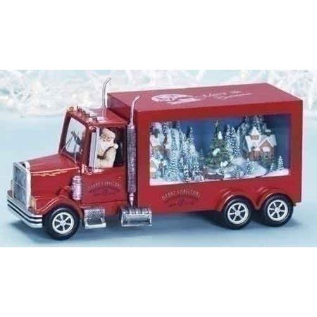 animated santa driving 13 quot amusements animated musical santa driving a truck decoration walmart