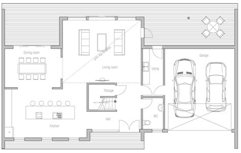 new house plans for 2013 contemporary house plan to wide lot with open planning and