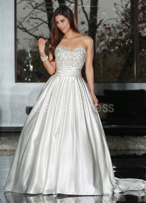 beaded gown wedding dress with court traincherry