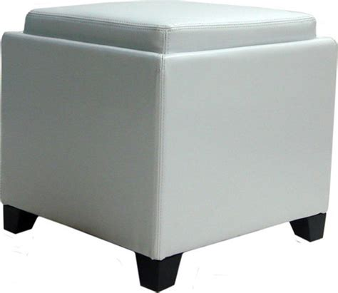 ottoman with built in tray armen living contemporary storage ottoman with tray