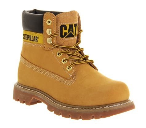 Boots Caterpilar caterpillar colorado boots honey leather suede ankle boots