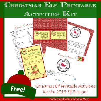 printable elf on the shelf kit free christmas elf printable activities kit free