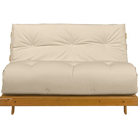 sofa beds homebase colourmatch tosa futon sofa bed with mattress cream