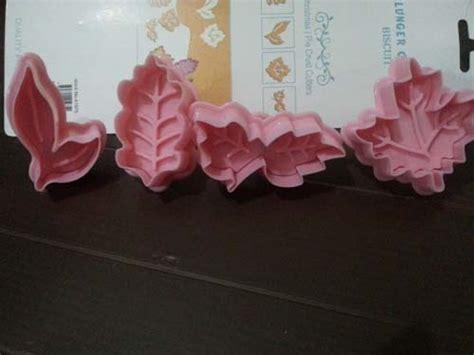 cetakan fondant bentuk cetakan fondant bentuk daun tokopastri
