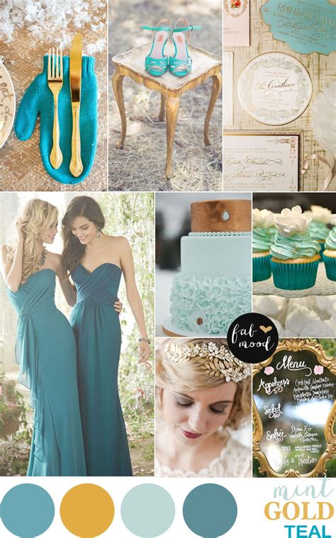 ruby wedding inspiration mint green teal and gold wedding gold mint and teal wedding palette vintage hint