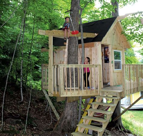 backyard treehouse for kids a backyard tree house with zip line and hammock habitat