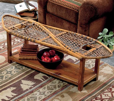 Lodge Decor by Rustic Coffee Tables Vintage Snowshoe Coffee Table Black