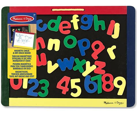 melissa doug magnetic chalk dry erase board with numbers