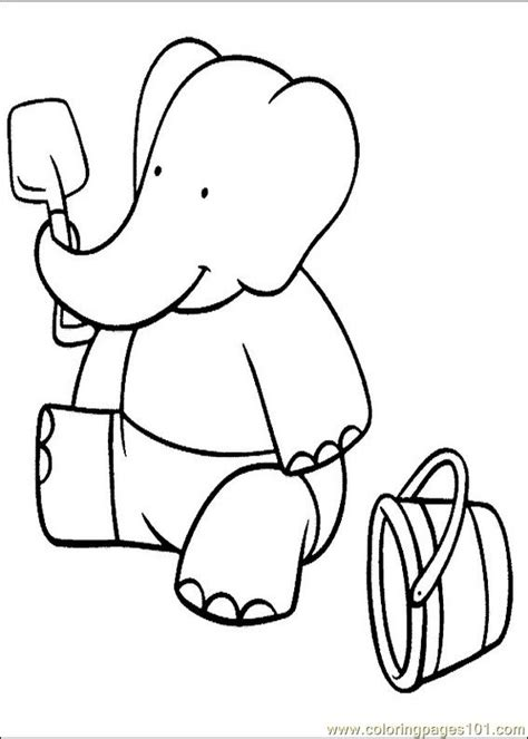 babar coloring pages 024 coloring page free babar
