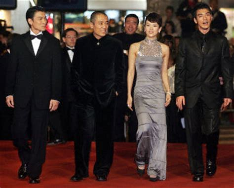 house of flying daggers cast members of quot house of flying daggers quot pose in cannes zhang yimou produced by