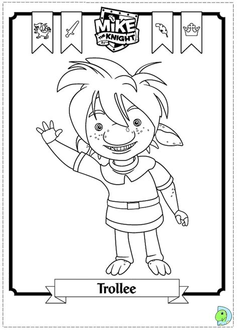 mikethe knight colouring pages