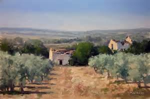 peinture tableau cabanon en provence huile sur
