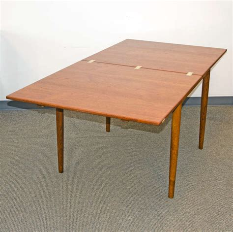 Flip Top Tables Dining Tables Mid Century Small Teak Flip Top Dining Table By Borge Mogensen At 1stdibs